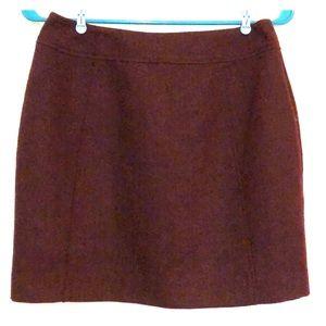 H&M tweed maroon mini Skirt 6